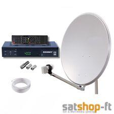 Digitale Sat Anlage 1 Teilnehmer 80cm ALU mit HDTV Sat-Receiver USB HD LNB 0,1 H