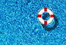 Swimming Pool Lifebuoy Scene Photography Backdrop Prop Background Studio 10x6.5'