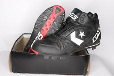Vintage 90s New Converse Mens Size 12 Round Tripper Mr Mid Baseball Cleats Black