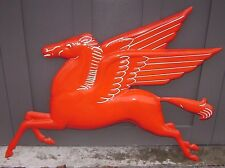 Mobil Oil FLYING HORSE PEGASUS --- original vintage porcelain sign --- Mobilgas