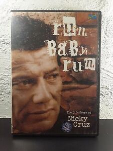 Run Baby Run DVD Life Story NICKY CRUZ Christian Convert Documentary RARE
