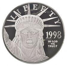 Silver 4 Oz. 1998 Statue Of Liberty Platinum Layered Round .999 Fine Silver *575