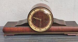 """alte Buffetuhr Kaminuhr Tischuhr,"""" läufer """" mit Westminster Schlagwerk"""