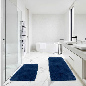 Bath Rug Set - Soft Absorbent Shaggy Bathroom Rugs For Bathroom Vanity Shower