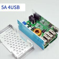 DC 9V-36V To 5V 5A LM2596 4 USB Ports Charge DC-DC Step Down Converter Module