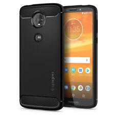 For Motorola Moto E5 Plus | Spigen® [Rugged Armor] Black TPU Slim Case Cover