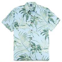 Hibiscus Collection Men's Hawaiian Aloha Shirt - French Palm Print