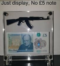 More details for £5 or £10 ak 47 bank note display acrylic stand (no £5 note included)