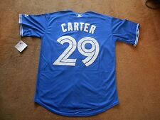 Joe Carter #29 Toronto Blue Jays STITCHED Button Baseball Jersey Men L TAGS NEW!