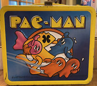 Vintage 1980 Aladdin 3-D Metal Pac-Man Lunch Box