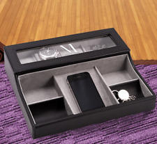Personalized Open Tray Jewelry & Watch Case