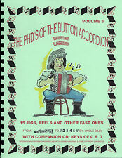 JIGS & REELS  BUTTON ACCORDION BOOK WITH CD, DELIGHTFULL TUNES PLAYED BY NUMBERS