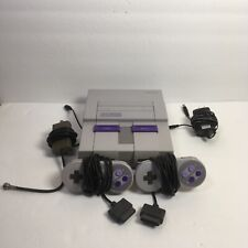 Working Super Nintendo SNES Original System Console w/ 2 Controllers, Cords