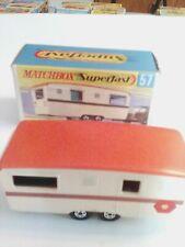 MATCHBOX SUPERFAST  57 TRAILER CARAVAN EXCELLENT CONDITION BOXED