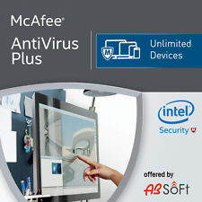 McAfee Antivirus Plus 2018 Unlimited Devices 2017 12 Months MAC,Win,Android