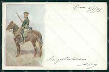 Military Russia Russian Soldier Horse Dragons postcard XF3650