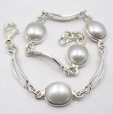 925 Solid Sterling Silver Fresh Water Pearl Bracelet