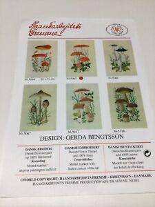Dänische Stickerei / Dänisches Blumengarn 20 x 30 cm / Komplettset
