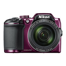 Nikon Coolpix B500 16MP Digital Camera 40x Optical Zoom Purple Full-HD WiFi/ NFC