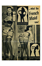 Pin Up Girl Poster 11x17 Bettie Page Magazine Spread French Maid