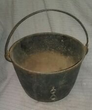 ANTIQUE VINTAGE CAST IRON FOOTED CAULDRON CALDRON CAMPFIRE POT