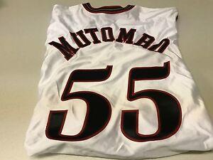 NWT MEN'S DIKEMBE MUTOMBO #55 RETRO PHILADELPHIA 76ERS WHITE AUTHENTIC JERSEY