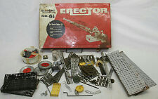 ERECTOR ELECTRIC ENGINE SET 6 1/2 CASE WITH PARTS