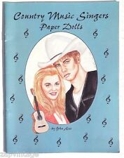 Vtg New 1996 Country Music Singers Paper Doll (John Axe) Hobby House Press Book