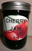 Fresh CHERRY JAM 1/2 Pint (8 oz.) Organic, No Chemicals, FREE SHIPPING