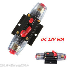 DC 12V Car Audio Inline Circuit Breaker Fuse for System Protection 60A 60AMP New