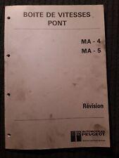 (307MB) Manuel d'atelier PEUGEOT - Boîte de vitesses Pont MA-4 et MA-5.