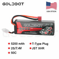 50C 2S 5200mAh 7.4V Lipo Battery Hardcase Deans Plug for RC Car Truck Buggy Boat