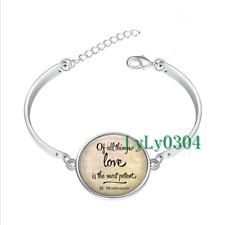 Maria Montessori glass cabochon Tibet silver bangle bracelets wholesale