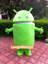 2019 Advertising Green Android Robot Mascot Costume Outfit Cosplay Dress Unisex