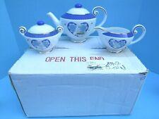 Nib 2005 Danbury Mint Pillsbury Doughboy 5 Piece Porcelain Tea Set Freeship!