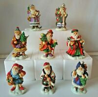 "Old World Santa Lot Of 15 Bronson Collectibles 3.5""Christmas around the world SA"