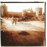 Francia Château Placca Da Lente Stereo Positive Foto Amateur Vintage Ca 1925