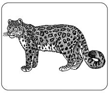 SNOW LEOPARD Tappetino mouse-LINE ART Disegno