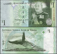 TONGA BILLETE 1 PA'ANGA. ND (2012) LUJO. Cat# P.37b