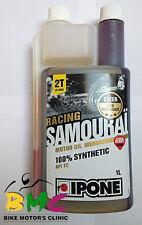 Aceite Ipone Samurai Somourai Racing Sintetico 100% 2T Motor Oil 1L Olor Fresa