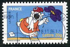TIMBRE DE FRANCE  OBLITERE N° 3958 / AUTOADHESIF N° 91 LE CHIEN CUBITUS