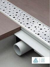 Caniveau de douche siphon sol acier inox gouttière plat 75cm Modèle : carré