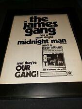 James Gang Midnight Man Rare Original Promo Poster Ad Framed!