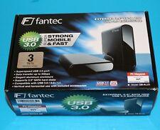Fantec DB-ALU3 3 To externe USB 3.0 Boîtier de disque dur plus installé 3 To disque dur