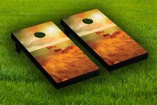 Amber Water View Cornhole Board Wraps Laminated Sticker Set Skin Decal