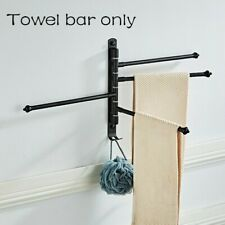Bathroom Towel Bar Wall Mounted Rotating Rack Towel Shelf Holder Stainless Steel