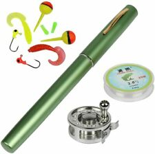 YOGAYET Mini Pocket Ice Fly Fishing Rod and Reel Combos Set Aluminum Alloy Pen F