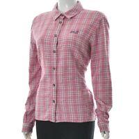 Jack Wolfskin Women's Button Up Collared Tweed Shirt Long Sleeve Plaid Size EU-L