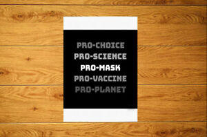 Pro-Science Pro-M@sk Pro-Vaccine Pro-Planet Sticker Packs (10-100) Public Health