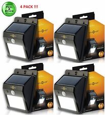 4 Pack Solarblaze LED Solar Power Motion Sensor Wall Light Waterproof Garden